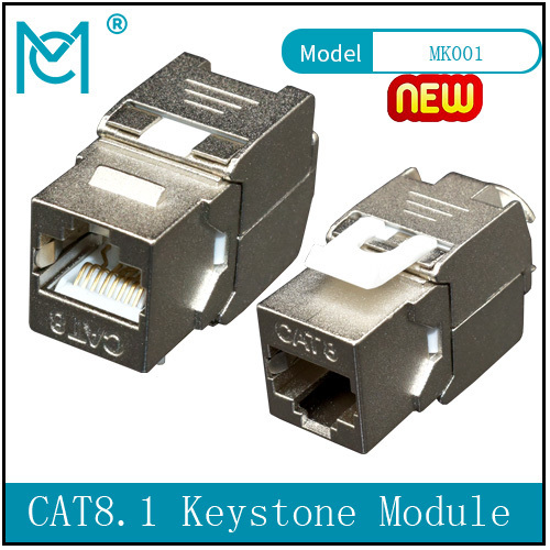 CAT 8.I Keystone Module Shielded Tool-free Connection