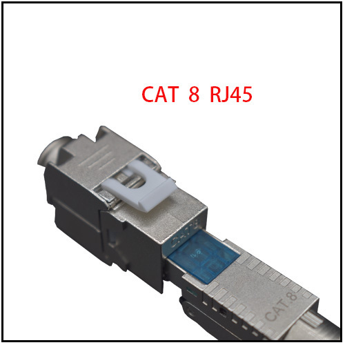 CAT 8 Modular RJ45 Plug 8P8C Shielded For Round Cable( One Set= 2pcs)