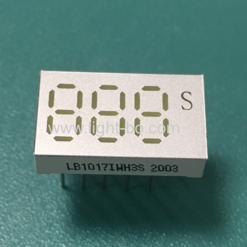Ultra white Custom small size 0.25inch 3 Digit 7 Segment LED Display for Instrument Panel