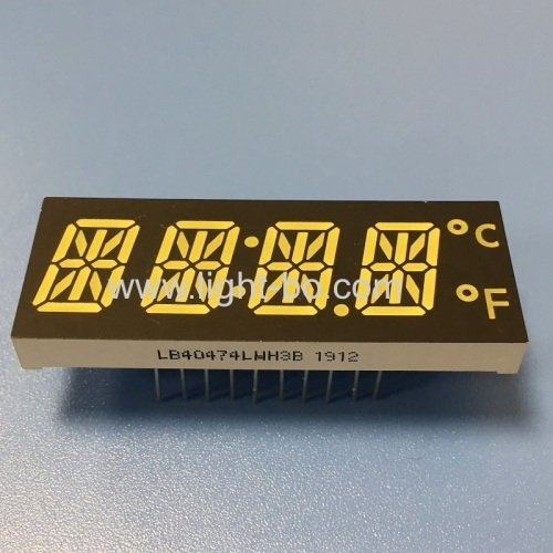 Customized ultra bright white 12mm 4 Digit 14 Segment LED Dispaly for digital timer control