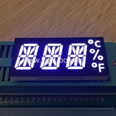 alphanumeric display;14 segment;custom display; 3 digit 14 segment;14 segment