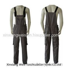 Breathable Khaki Fr Bib Overall / Fr Rated Bib Overalls Safety Flash Protective