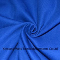 Cotton Royal Blue Fire Retardant Fabric / Flame Retardant Cotton Fabric Protective