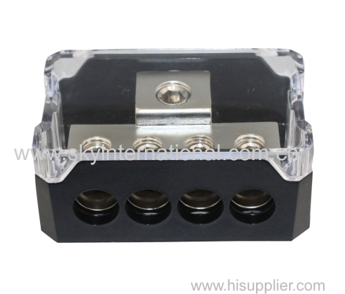 Power Distribution Block 1x0Ga In 4x4Ga Out Nickel Plated