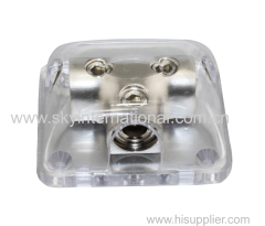 Power Distribution Block 0Ga In 0GA or 4Ga Out Nickel Plated