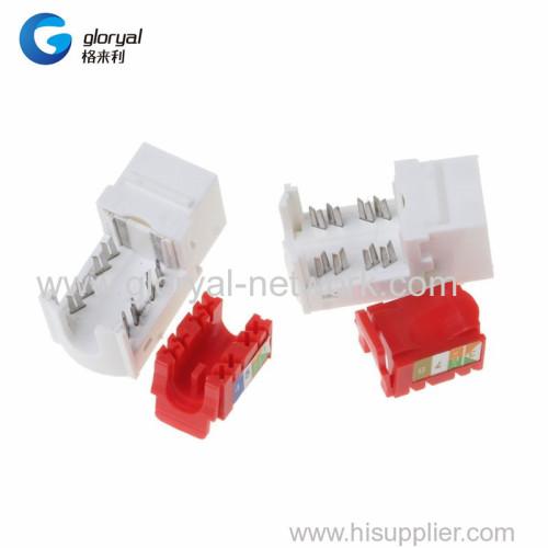 CAT6 Network Module Information Socket RJ45 Connector Adapter Keystone Jacks Modules Tool-free Connection