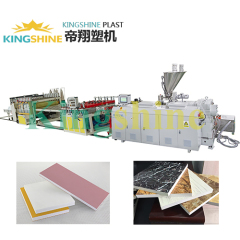 High Capacity PVC Half-crust Foam Board Production Line plastic machine