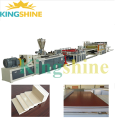 High Capacity pvc wpc furniture crust foam board production line extrusion maxhine