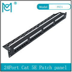Modular Patch Panel Unshielded 24-Port Blank 1U Rack Mount Black Color 24Port Cat 5E Patch panel