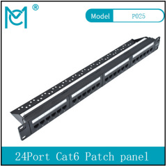 Modular Patch Panel Unshielded 24-Port Blank 1U Rack Mount Black Color 24Port Cat 6