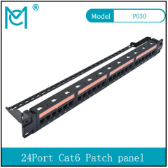 Modular Patch Panel Unshielded 24-Port Blank 1U Rack Mount Black Color 24Port 24Port Cat6