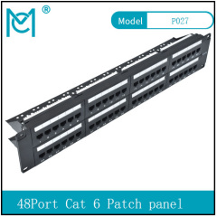 Modular Patch Panel Unshielded 24-Port Blank 1U Rack Mount Black Color 48Port Cat 6 Patch panel