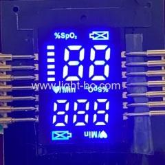ультра тонкий индивидуальный smd светодиодный дисплей ультра яркий синий для пальца пульсоксиметры