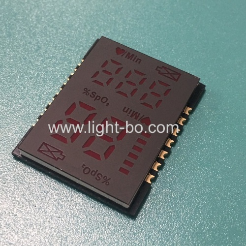 Hot sale ultra thin 2.8mm ONLY customized Red SMD LED Display for Finger Pulse Oximeters