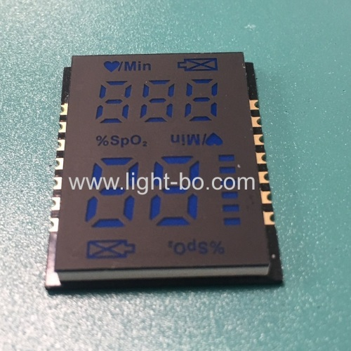 ultra thin customized SMD LED Display Ultra bright blue for Finger Pulse Oximeters