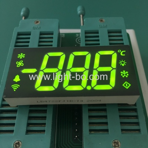 Super bright Yellow Green Triple Digit 7 Segment LED Display common cathode for Refrigerator Control