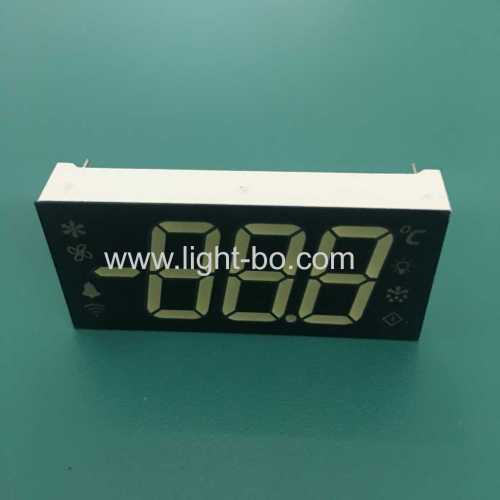 Customized ultra white 3 Digit 7 segment LED Display common cathode for Refrigerator Controller