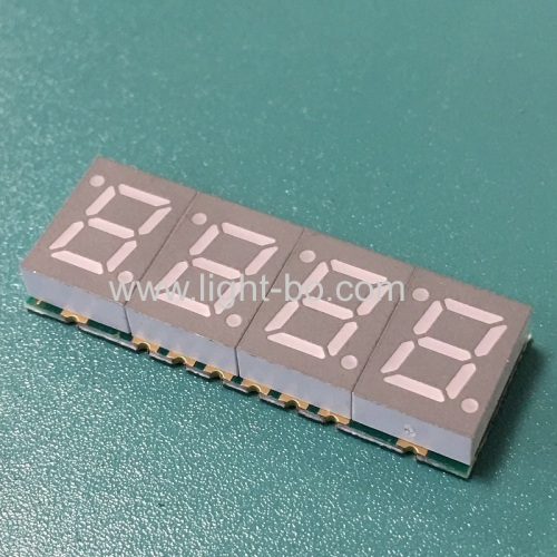 Ultra thin 4 Digit 7mm SMD 7 Segment LED Display common cathode for Instrument Panel