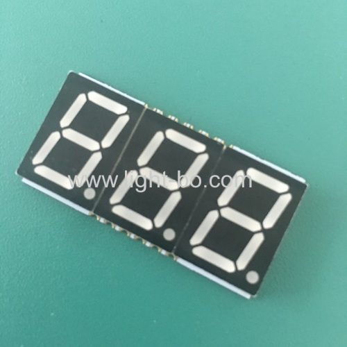 Ultra thin super bright red 0.56 Triple Digit SMD 7 Segment LED Display common anode for instrument poanel