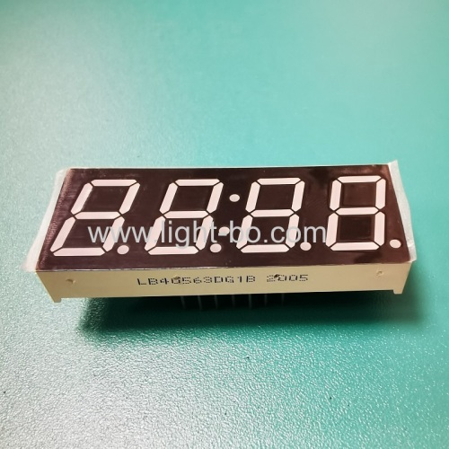 Pure Green 0.56 4 Digit 7 Segment LED Clock Display common cathode for home appliances