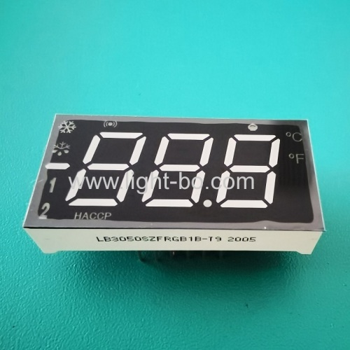 Custom Design Multicolour Triple Digits 7 Segment LED Dispaly for Refrigerator Control