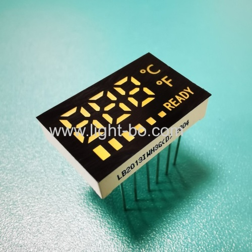 Ultra white customized 3 Digits 7 Segment LED Display common anode for temperarture indicator