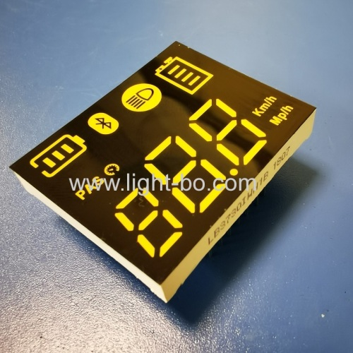 Ultra white Customized 7 segment led display common anode for electric scooter