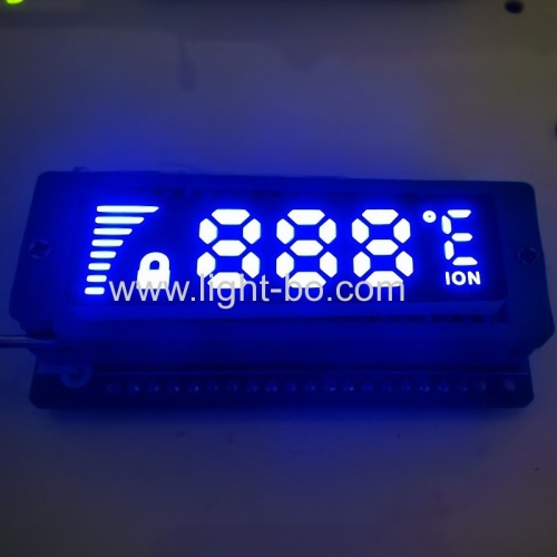 Ultra thin customized White color 7 Segment LED Display Common Anode for temperature controller