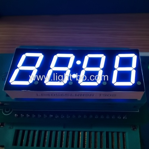 Low Cost ultra white 0.56 4 Digits 7 Segment LED Clock Display common cathode for digital timer control