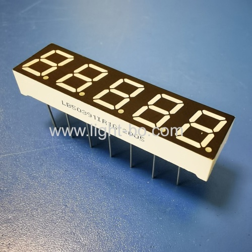 Super Red 0.39 5 Digit 7 Segment LED Display common anode for process control