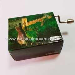 CUSTOM PACKAGING PERSONALIZED HAND CRANK MUSIC BOX