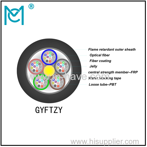 Outdoor all-dielectric self-supporting optical cable GYFTZY series