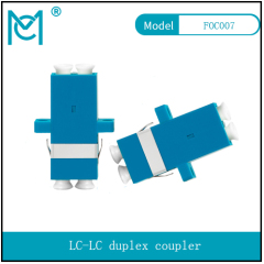 LC duplex coupler fiber flange fiber coupler connector