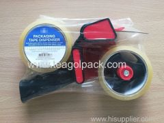 Packaging Tape Dispenser With 2 Rolls Clear Tape 48mmx50M
