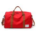 Fashion outdoor travel duffle bags leisure sports gym bag with shoe compartment tote bags