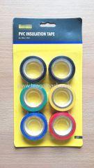 PVC Insulation Tape 6Pack 18mm x 8M