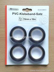 4Pcs Set PVC Tape 15mmx10M Black