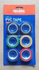 6 Rolls PVC Tape Set 18mm x 8M