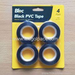 Black PVC Tape 4 Pack 15M