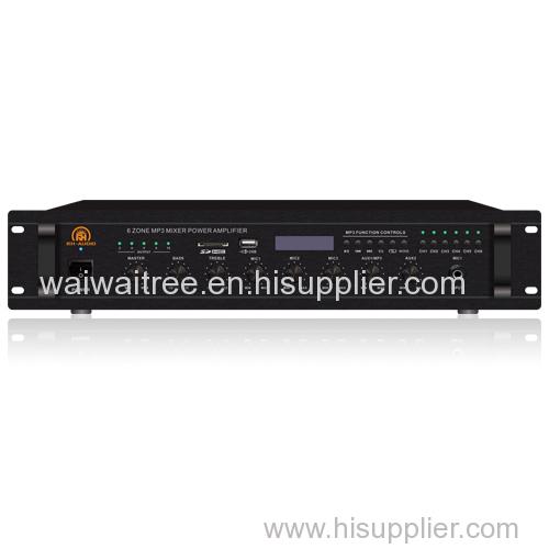 6-Zone USB/SD/FM/BT 100V PA Amps