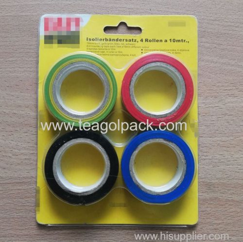 Set of 4 Coloured PVC Insulating Tape 19mmx10M