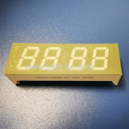 Ultra white 4 digit 7 segment led display Common cathode for oven timer control
