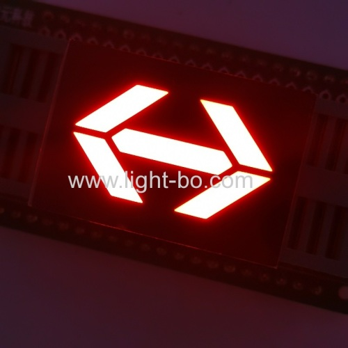 Ultra bright red 1inch Dual arrow LED display common anode for elevator direction indicator