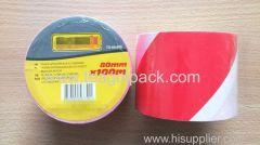 Barrier Hazard Warning Tape 80mmx100M Red/ White