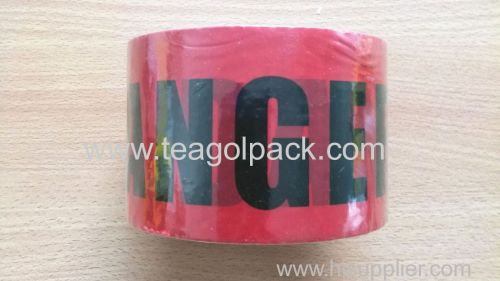 Danger Tape 7.62cmx91.4M(3 x300ft) Red Background with Black  Danger  Printing