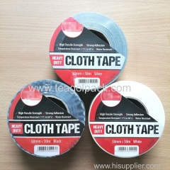 Cloth Tape Heavy Duty 50mmx50M White Black Silver