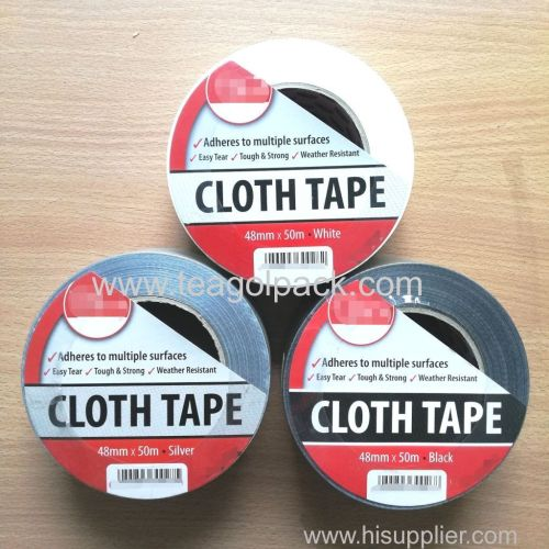 Cloth Tape 48mmx50M Silver White Black