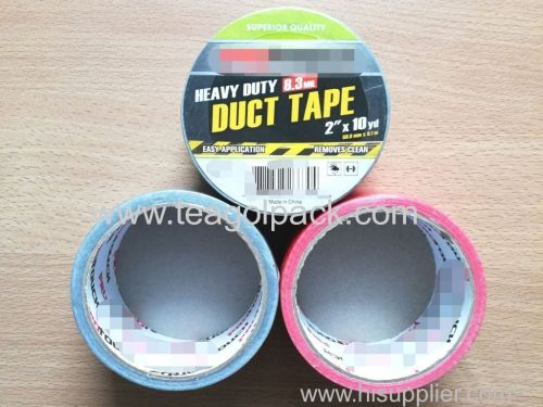 Cloth Duct Tape Heavy Duty 50.8mmx9.1M(2 x10yd) Silver Red