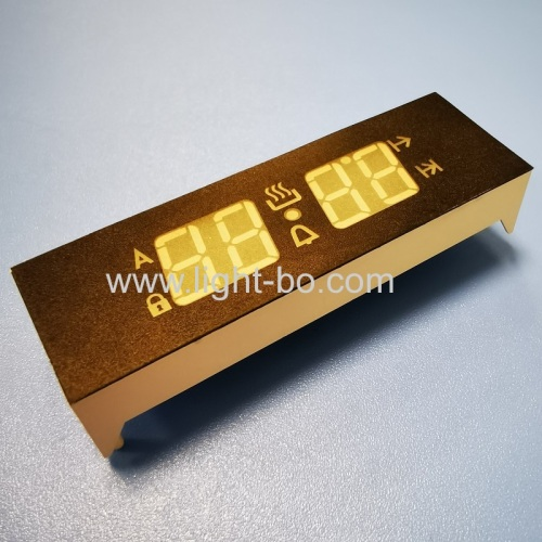 Ultra white customized 4 Digit 7 Segment LED Display Common Anode for digital oven timer