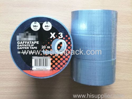 3 Rolls Cloth Duct Tape Silver 50mmx20M